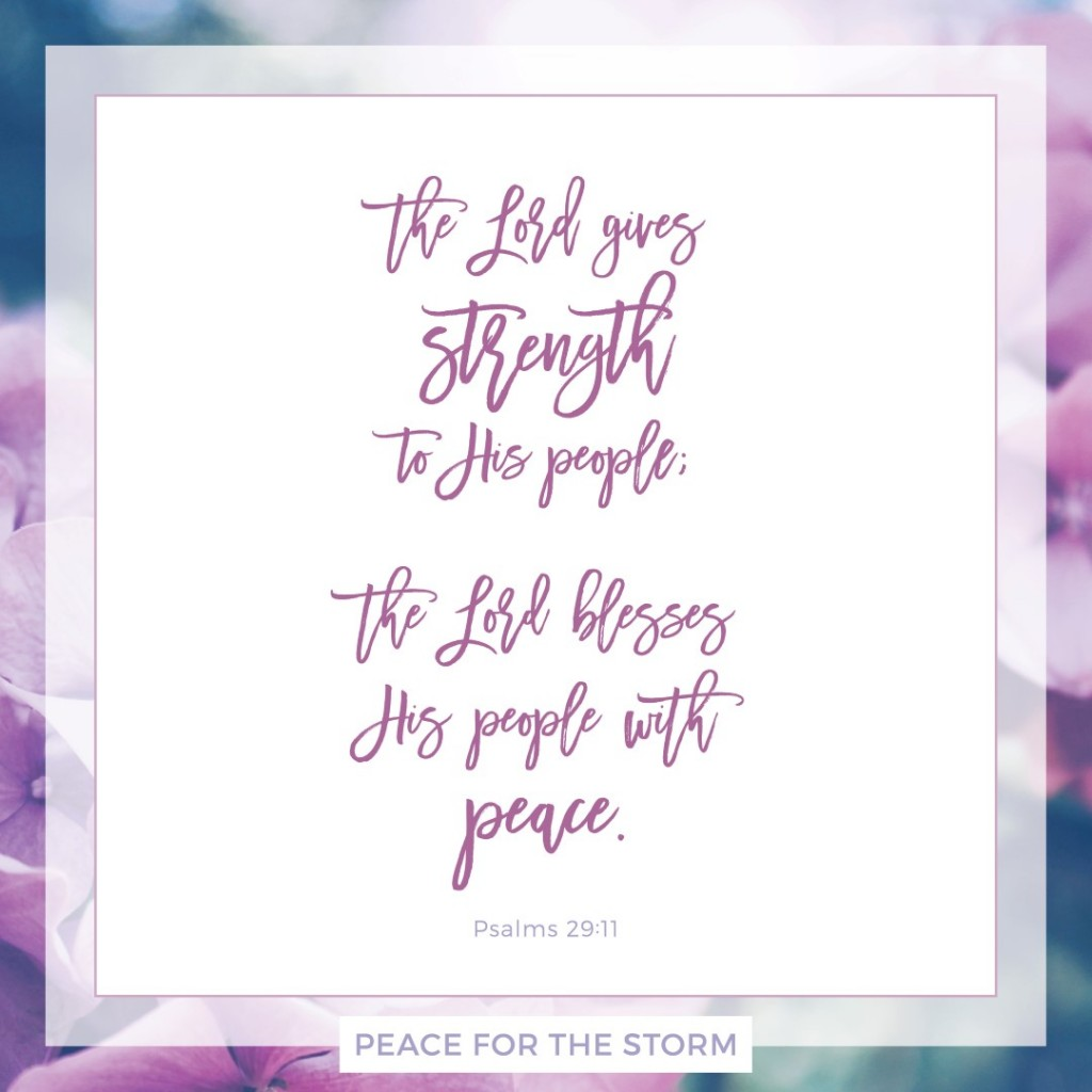 Peace for the Storm Quotes - The Lord Gives Strength to His People
