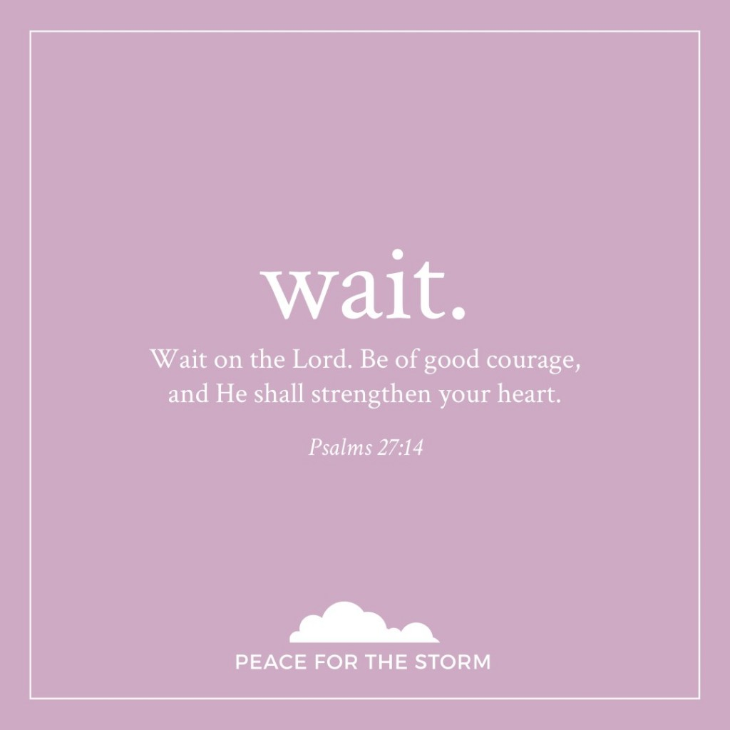 Peace for the Storm Quotes - Wait