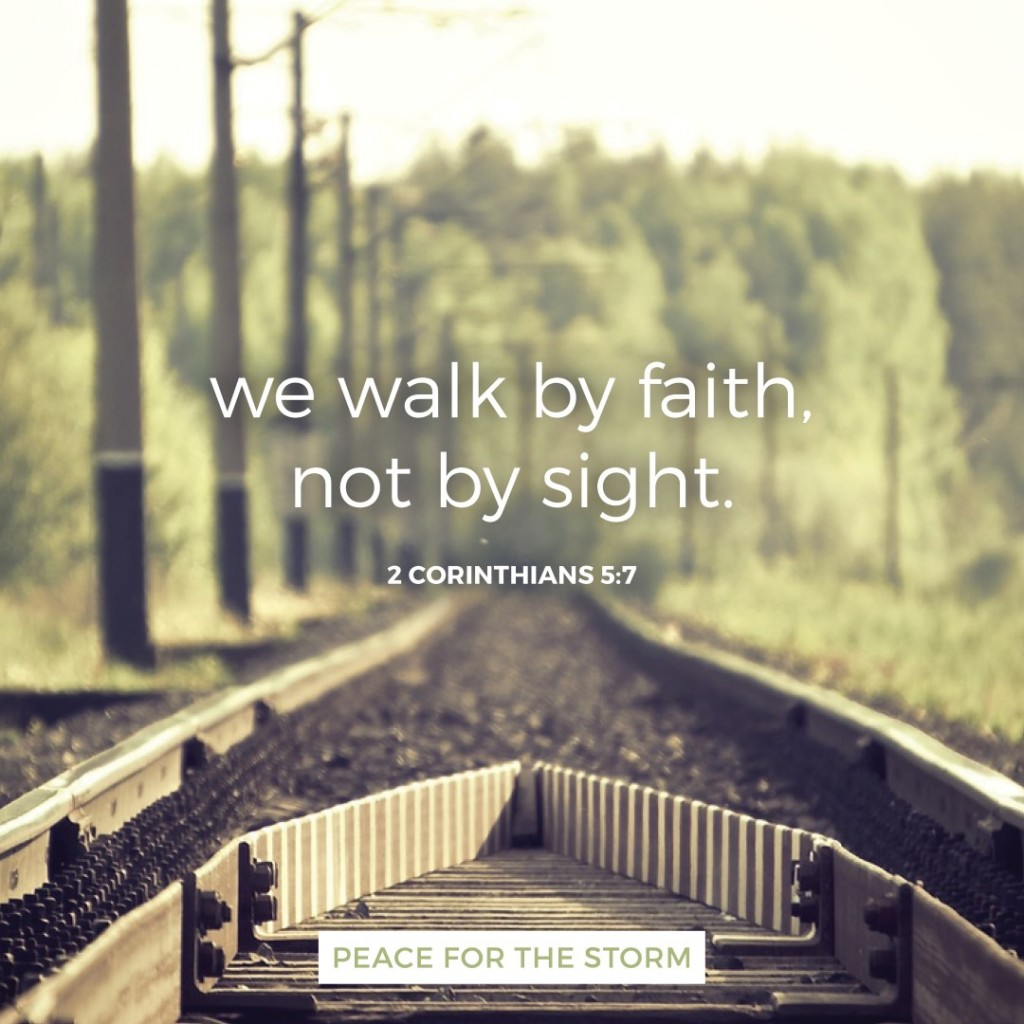 Peace for the Storm Quotes - We Walk by Faith