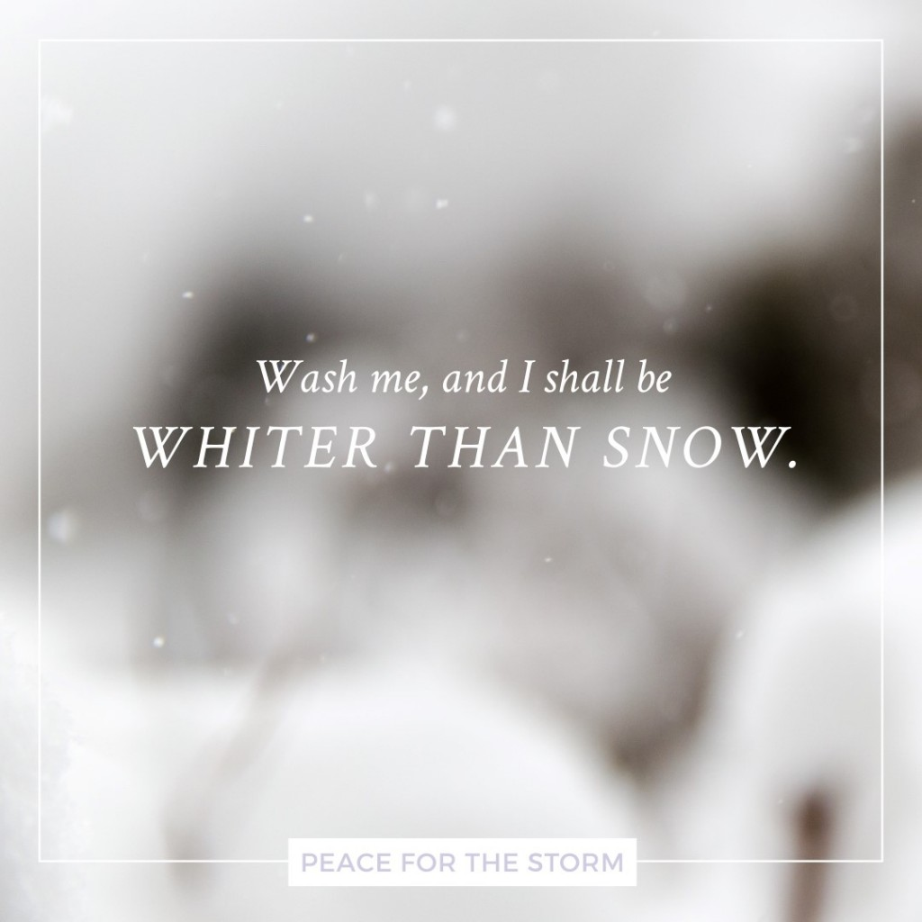 Peace for the Storm Quotes - Whiter than Snow