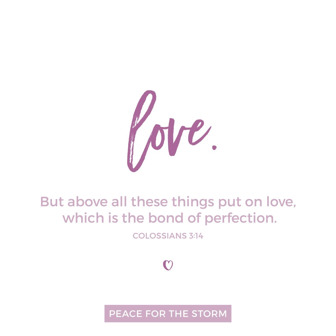 Peace for the Storm Quotes - Put on Love