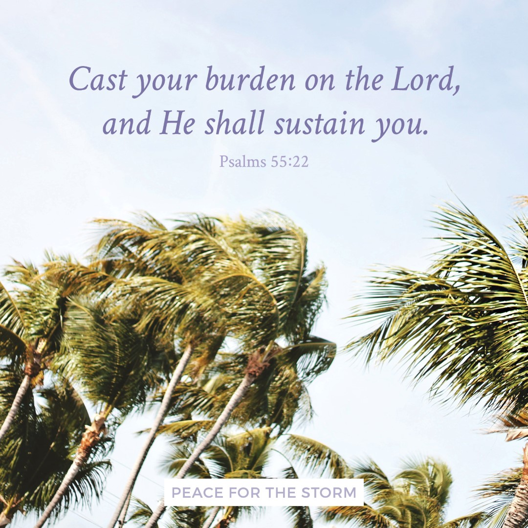 Peace for the Storm Quotes - Cast Your Burden on the Lord