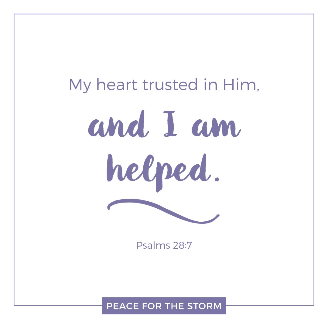 Peace for the Storm Quotes - I Am Helped