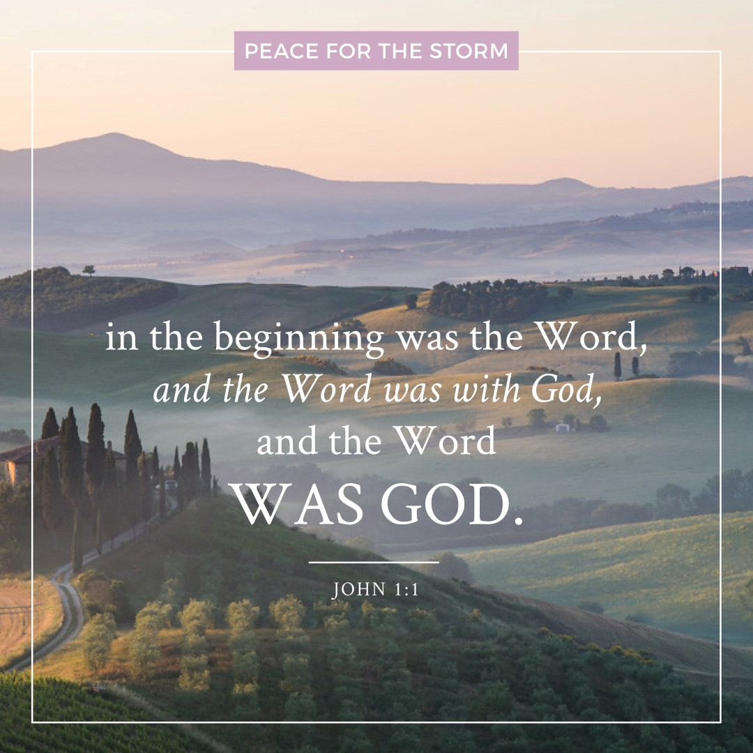 Peace for the Storm Quotes - In the Beginning Was the Word