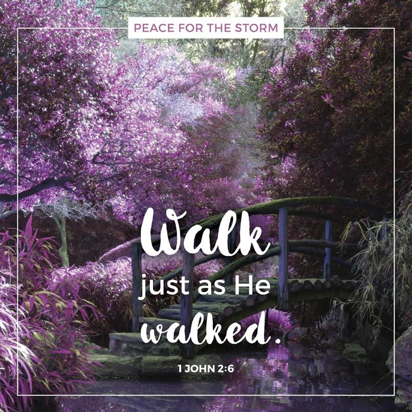 walk just as he walked peace for the storm