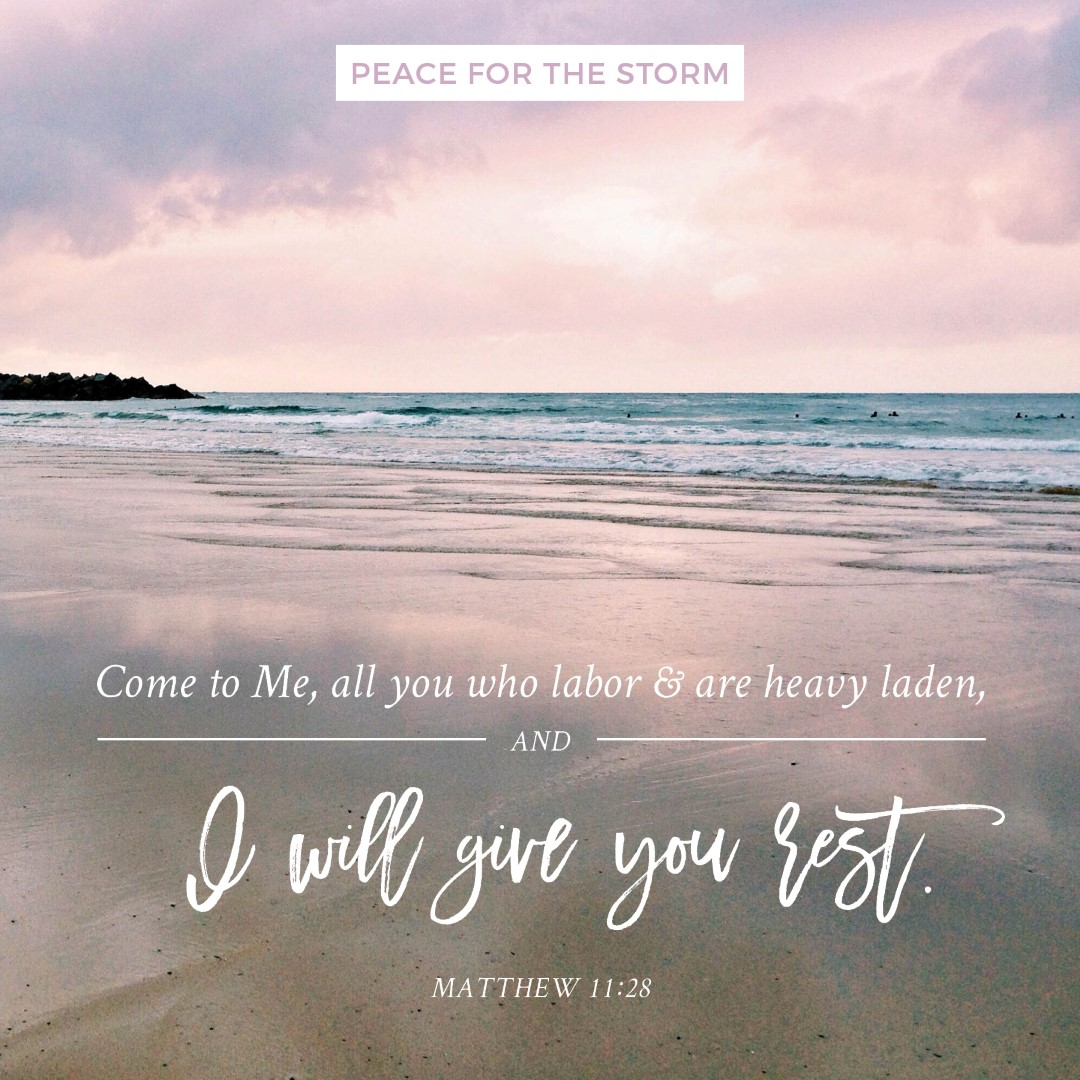 Peace for the Storm Quotes - I Will Give You Rest
