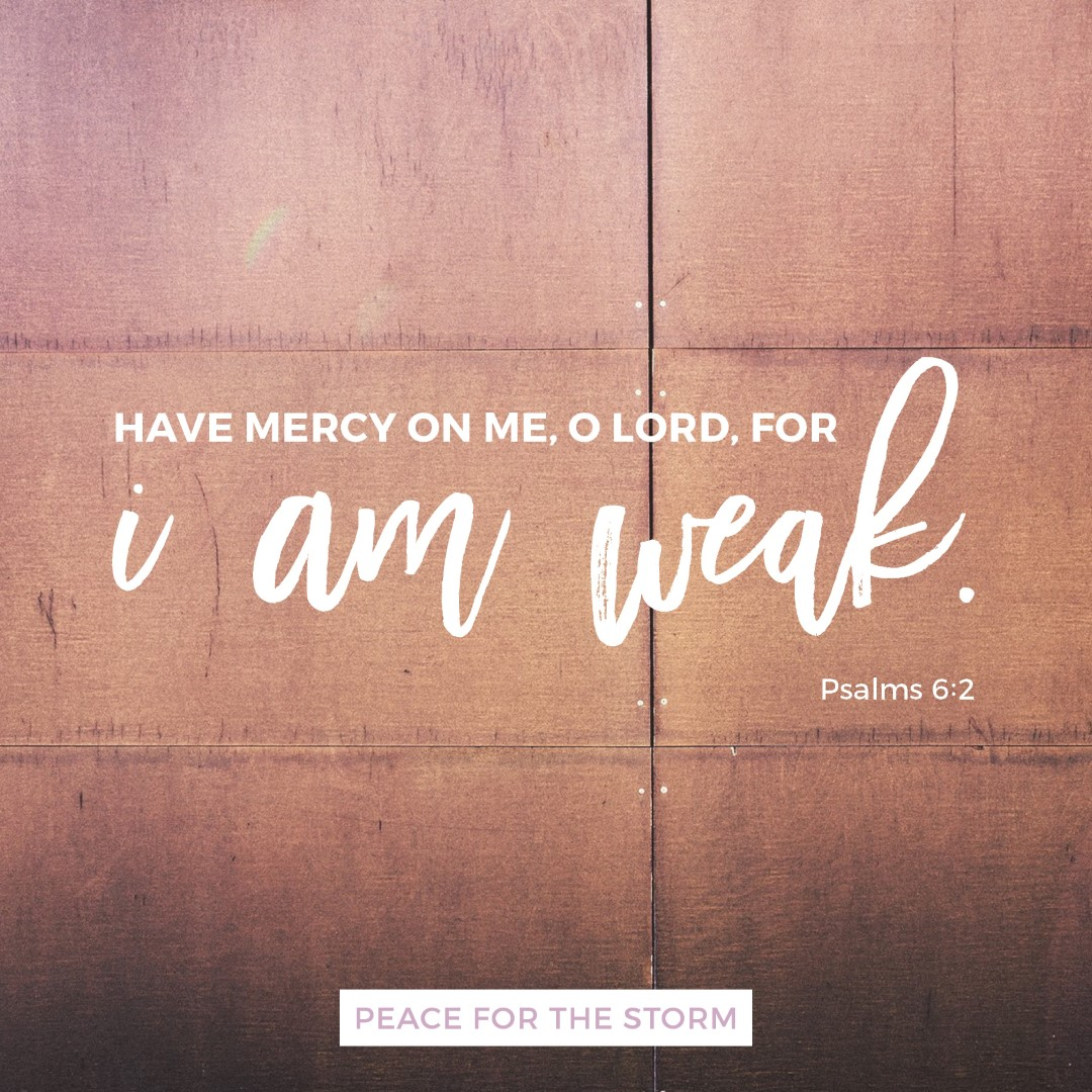 Peace for the Storm Quotes - I am Weak