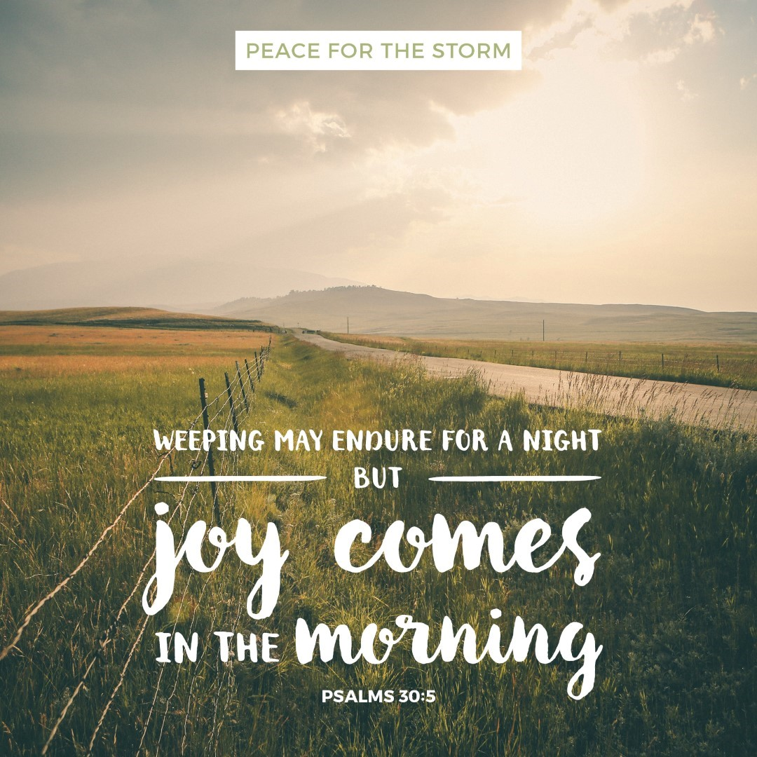Peace for the Storm Quotes - Joy Comes in the Morning