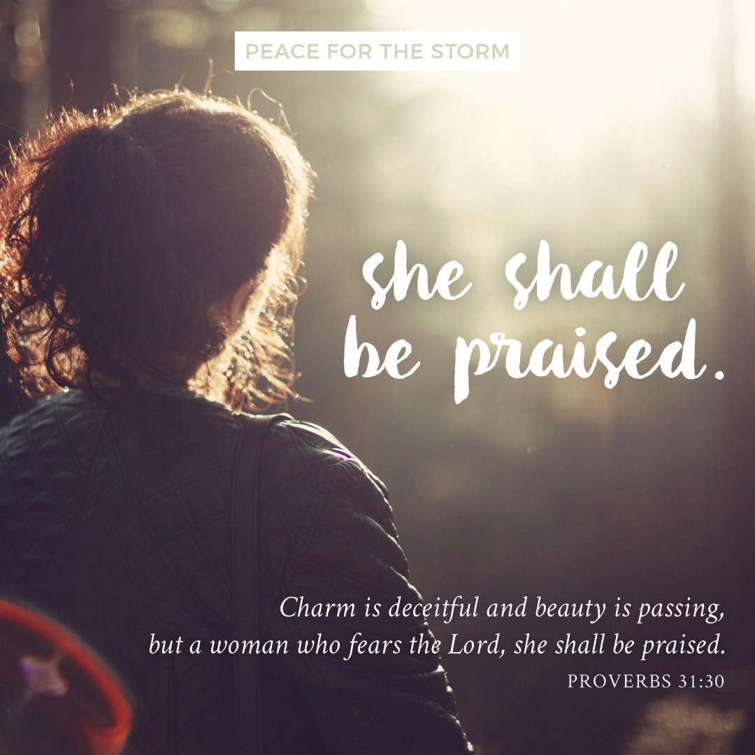 Peace for the Storm Quotes - She Shall be Praised