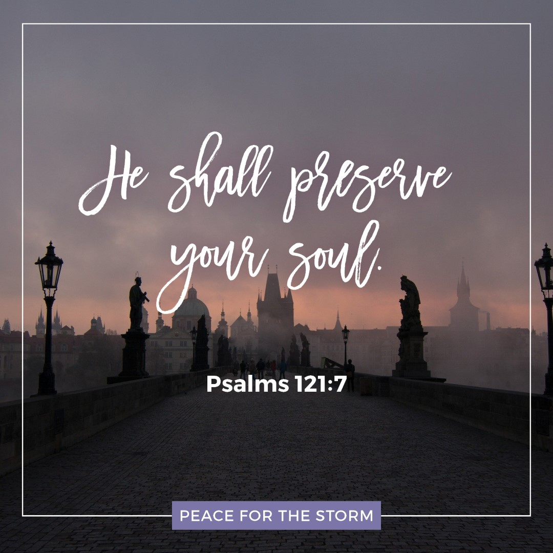 Peace for the Storm Quotes - He Shall Preserve Your Soul