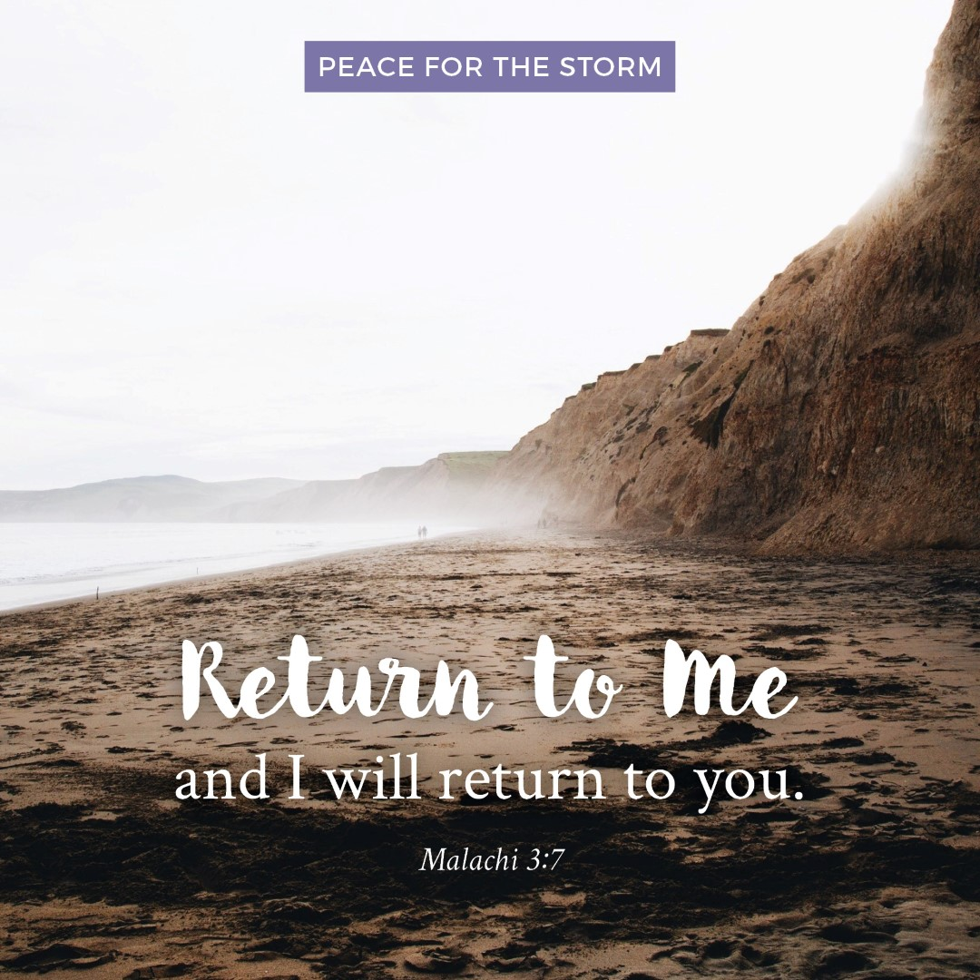 Peace for the Storm Quotes - Return to Me