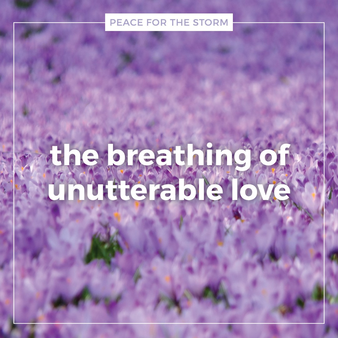 Peace for the Storm Quotes - Unutterable Love
