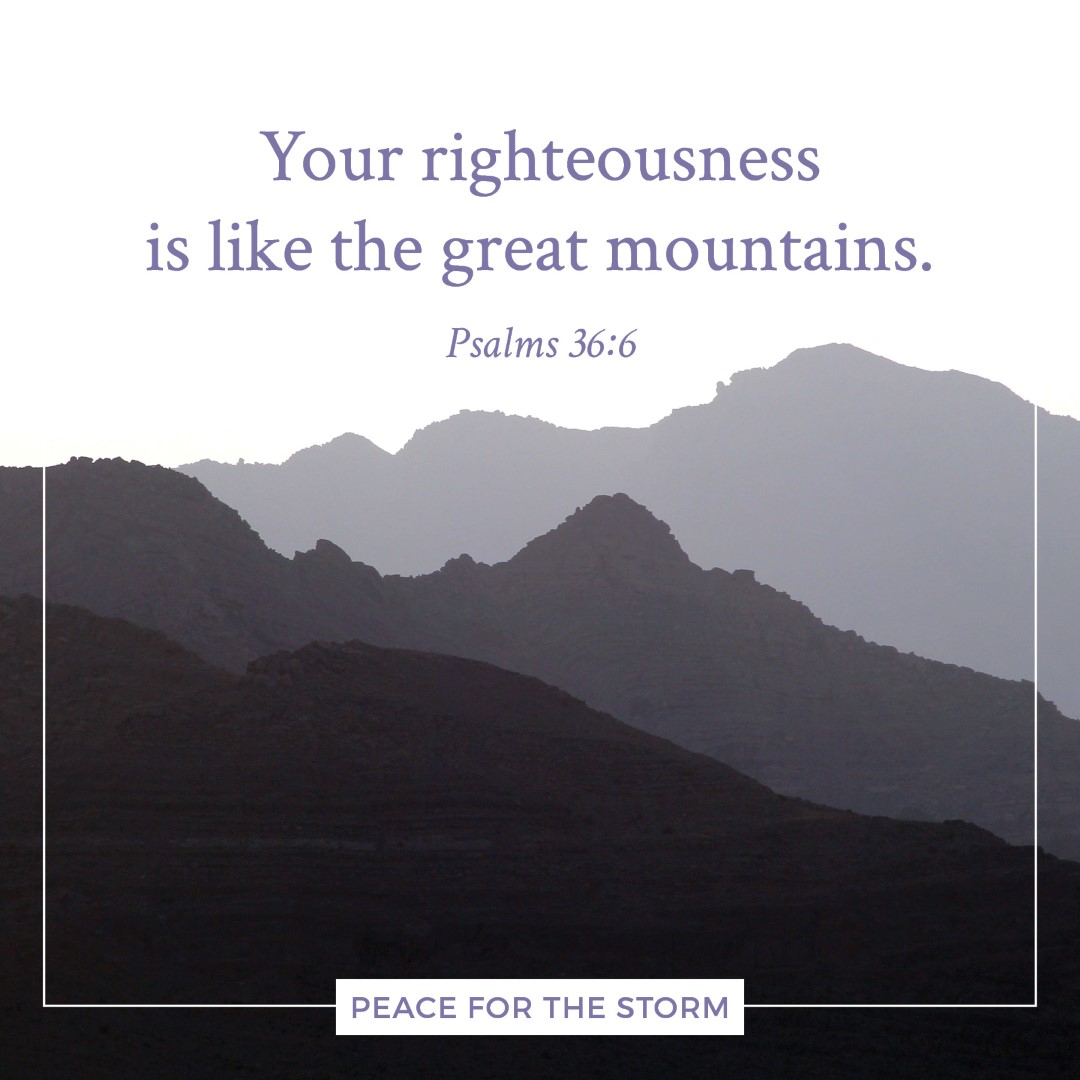 Peace for the Storm Quotes - Like the Great Mountains